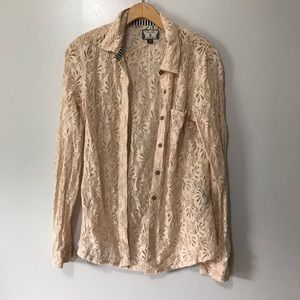 Volcom lace button down S